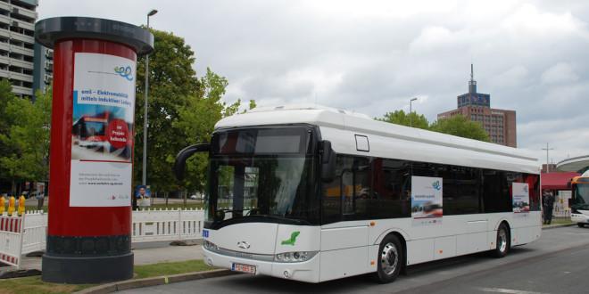 Beskontaktno punjen električni autobus u Braunšvajgu