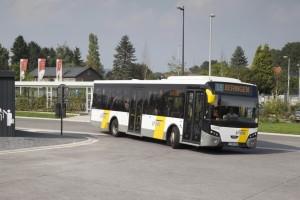 Beringen : Nieuw busstation Koerselse Steenweg aan het Station.