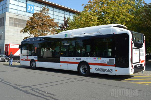 Iveco Urbanway Hybrid ZEV, jedan od autobusa na besplatnoj liniji na sajmištu