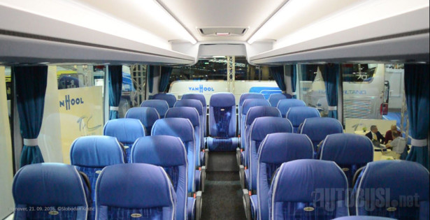 Kožna sedišta za duža putovanja - ukupno 59 mesta.