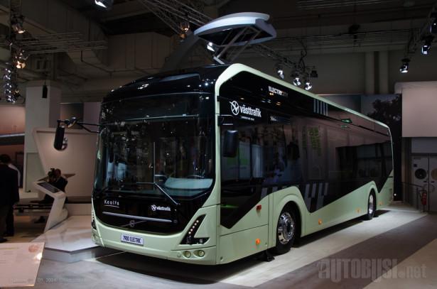 Volvo 7900 Electric, jedini autobus na štandu bez dizel motora.