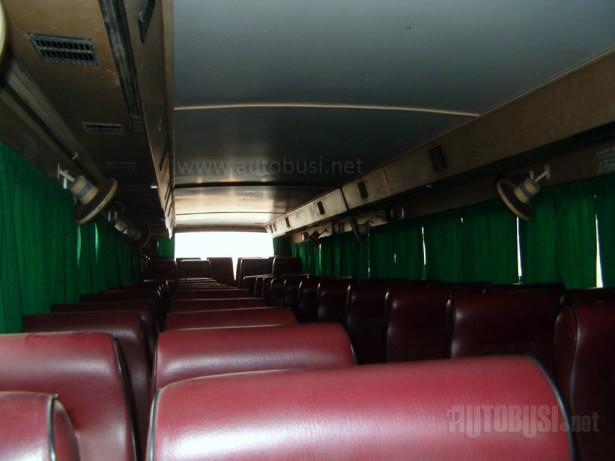 Unutrašnjost jednog od autobusa iz 1987. godine. © Saša Conić