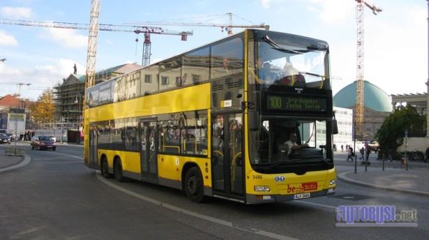 Dabldeker i linija 100 - najpoznatiji u Berlinu. © Saša Conić