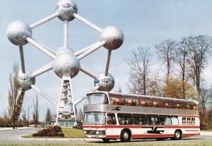 Putovanje od Štutgarta do Brisela 1967. godine dokazalo bezbednost i stabilnost dabldekera. © MAN Truck & Bus