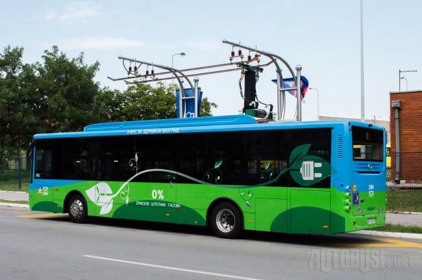 Autobusi na električni pogon i trolejbusi prisutni samo u Beogradu. © Slobodan Kostić
