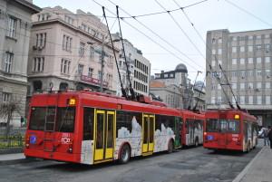 Kontaktna mreža narušava sliku grada. © Aleksa Ilić