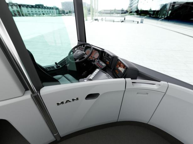 Izdignuto vozačko mesto za bolju preglednost. © MAN Truck & Bus