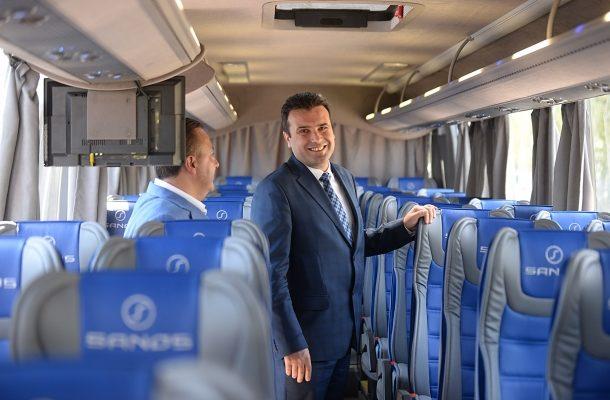 Zoran Zaev je prvi političar koji je obišao Sanos. © Kapital
