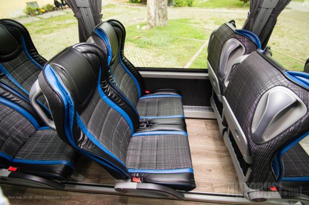 Ukupno 33 putničkih sedišta staje u ovaj autobus. © Slobodan Kostić
