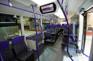 Zglobni Exqui.City ima ukupno 46 lako tapaciranih sedišta.
