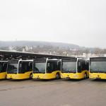 Mercedes-Benz hat am 22 Dezember 2017 die ersten neuen Citaro hybrid ausgeliefert. Die Fahrzeuge werden in Stuttgarts Innenstadtlinien der Stuttgarter Straßenbahnen AG (SSB) zum Einsatz kommen. Der Citaro hybrid beeindruckt mit einer Kraftstoffeinsparung von bis zu 8,5 Prozent.   On 22 December 2017, the first new Citaro hybrids were delivered by Mercedes-Benz. The vehicles will go into service on inner-city routes in Stuttgart with Stuttgarter Strassenbahnen AG (SSB). The Citaro hybrid impresses with a fuel saving of up to 8.5 percent.