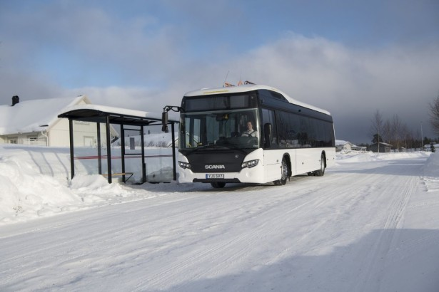 Scania full electric (BEV) bus trial. Östersund, Sweden Photo: Peggy Bergman 2018