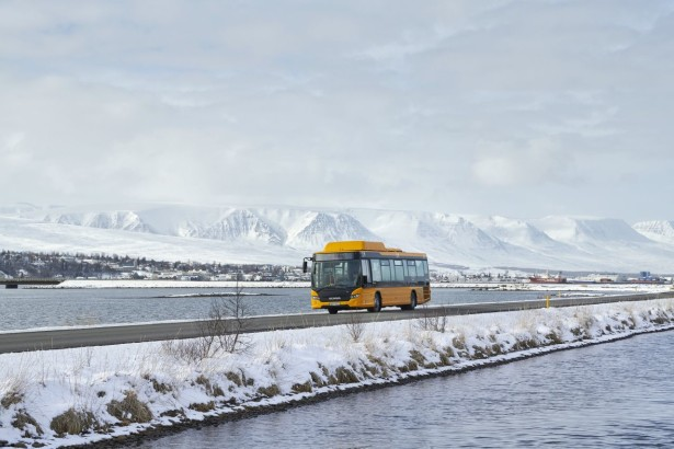 Scania Citywide LE 4x2, gas bus. Akureyri, Iceland Photo: Dan Boman 2014