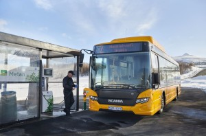 Scania Citywide LE 4x2, gas bus. Akureyri, Iceland Photo: Dan Boman 2014