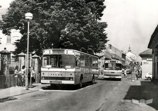 Novi Sad poznat po svojim Volvo autobusima. Foto Arhiva JGSP, sken Autobusi.NET