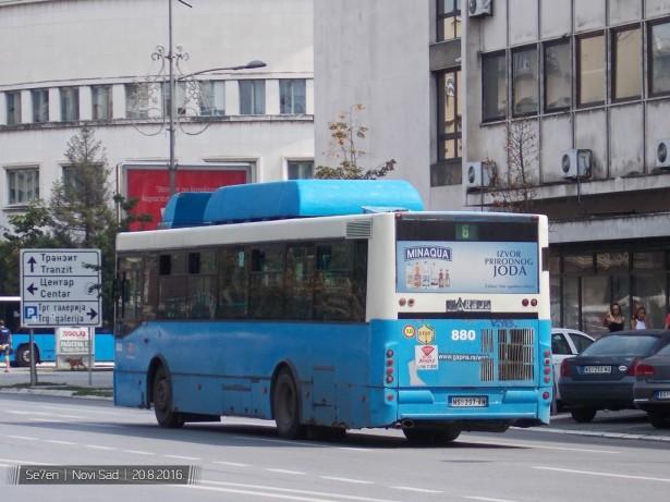 Gasni Ikarbus viđen na ulicama Novog Sada 2016. godine. © Se7en/Autobusi.NET