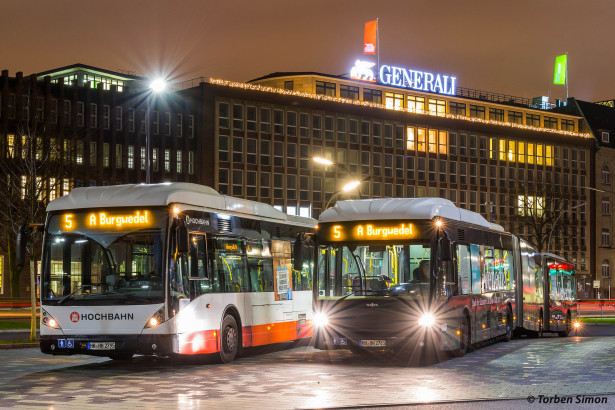 Hamburg je naručio 26 autobusa AGG 300 za potrebe brze autobuske linije. © Torben Simon