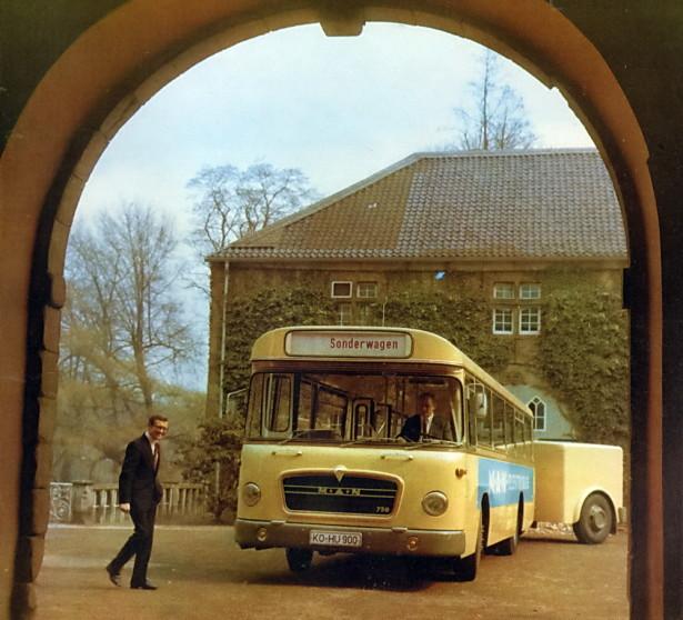 Predstavljen pred Olimpijadu 1972. u Minhenu uz električni BMW: © MAN Truck & Bus