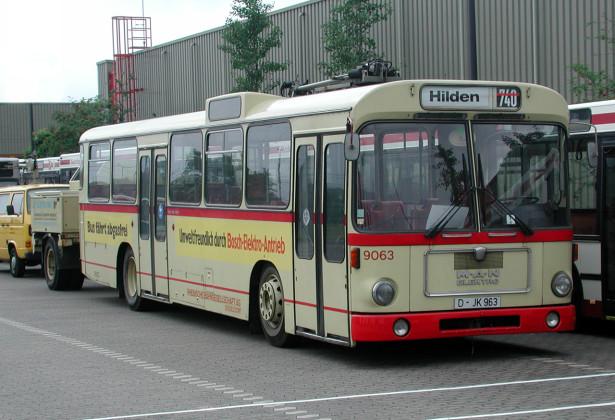 Novi MAN elektrobus po VÖV standardu pušten u rad 1974. godine. © Rheinbahn