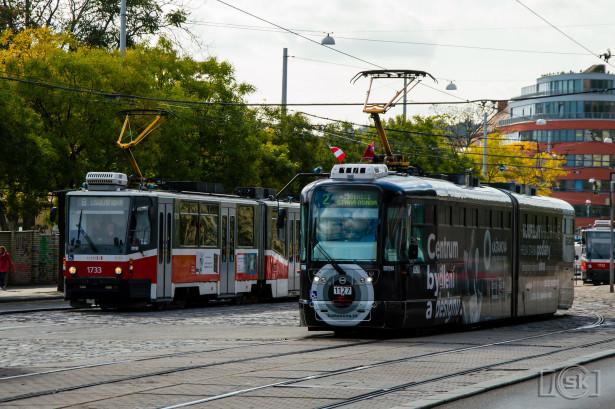 Karakteristična deonica u blizini železničke stanice sa četiri tramvajska koloseka. © Slobodan Kostić