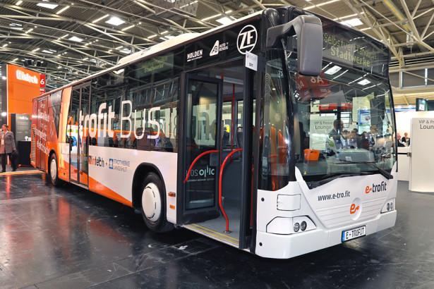 Firma e-troFit predstavila svoju konverziju Citaro autobusa na UITP kongresu u Stokholmu. © e-troFit