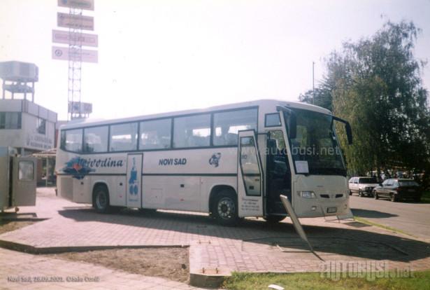 Pre privatizacije poslednje nabavljene autobuse je napravio Neobus na Volvo B12B šasiji 2001. godine. © Saša Conić