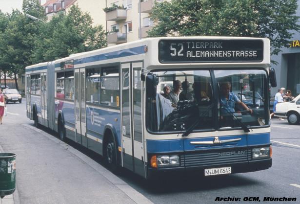 Razvijen u saradnji sa minhenskim MVG, Neoplan N421 je predstavljen 1987. godine. © Omnibus Club München