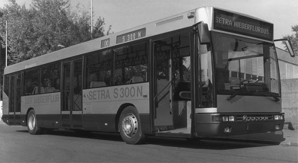 Setra S 300 N, niskopodni autobus sa aluminijumskom karoserijom predstavljen 1989. godine. © Omnibus Archiv