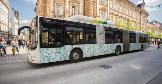 Posebno brendirani gasni MAN autobusi deo kampanje o ekološki čistom prevozu.