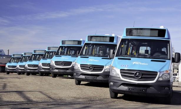 Deo flote minibusa MB Sprinter City 35 prevoznika Taneo