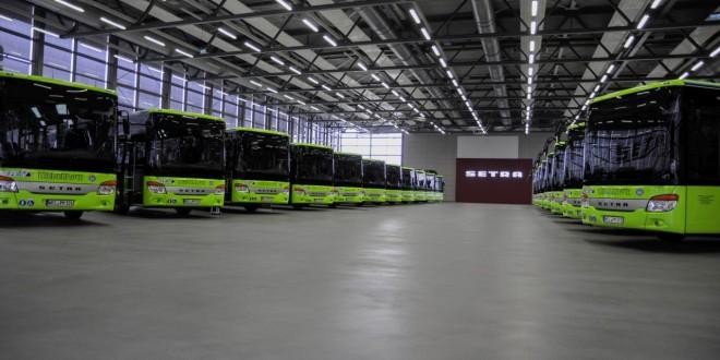 Flota zelenih Setra autobusa za centralni Hese